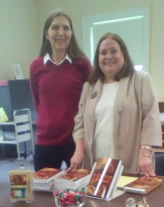 Aran West, Adult Services Librarian and MJ Compton, Author